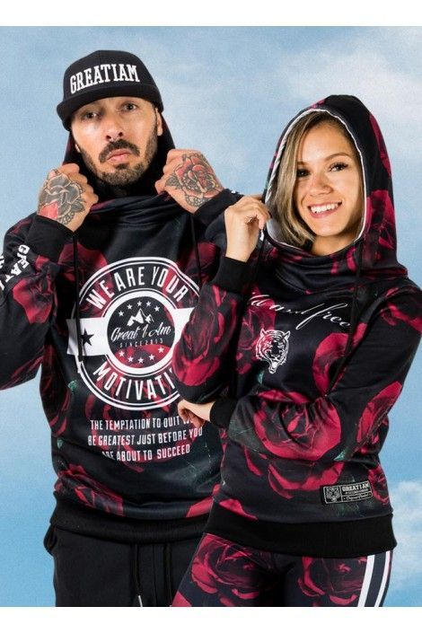 2 Sudaderas Roses Motivation